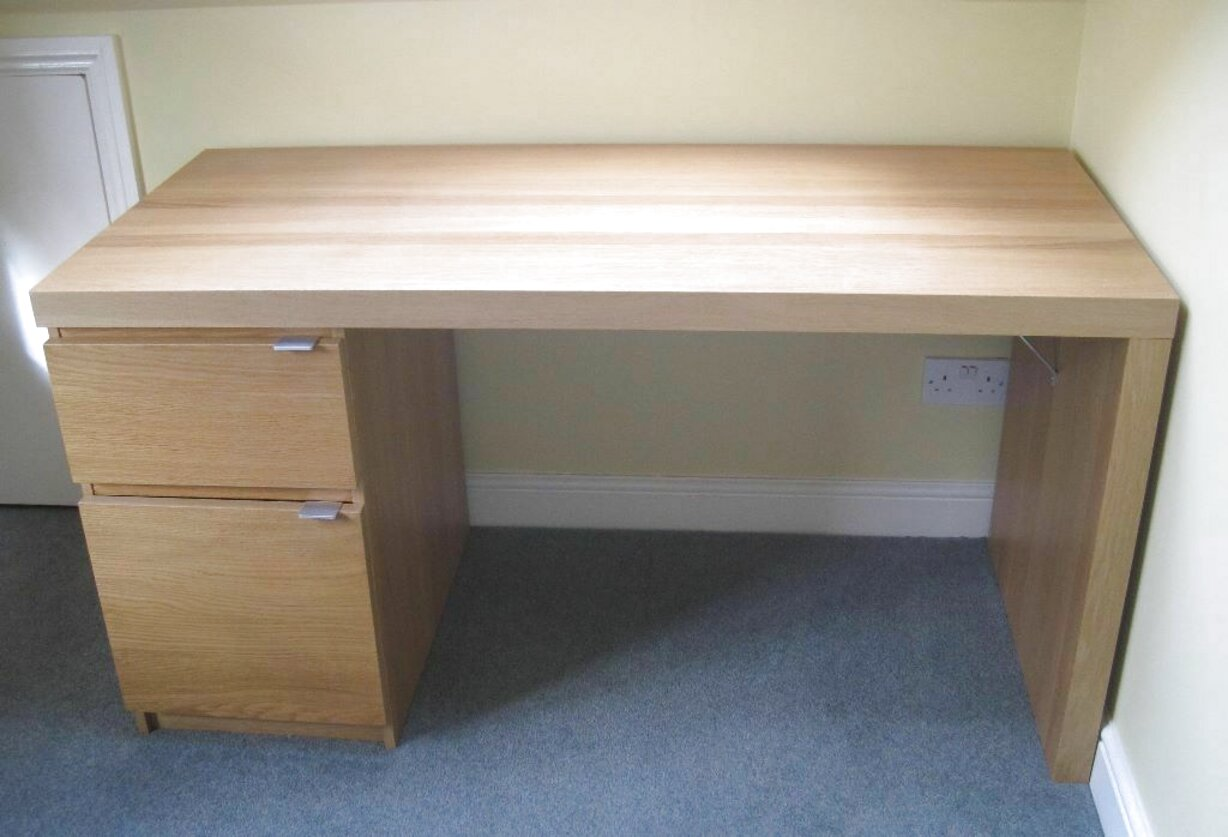 Picture of: Second Hand Ikea Oak Desk In Ireland View 21 Bargains