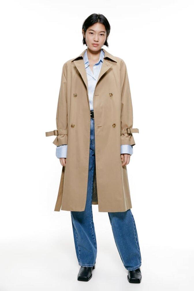 zara camel coat for sale