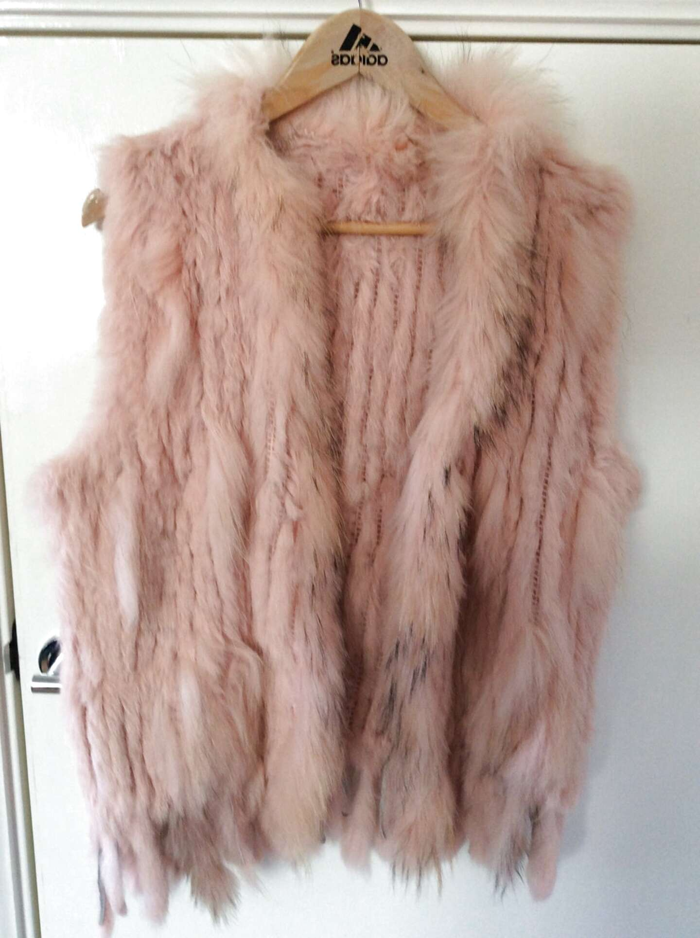 rabbit fur gilet for sale