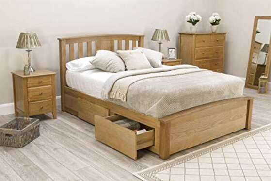 solid oak bed for sale