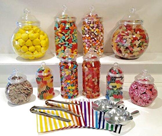 10 plastic sweet jars for sale