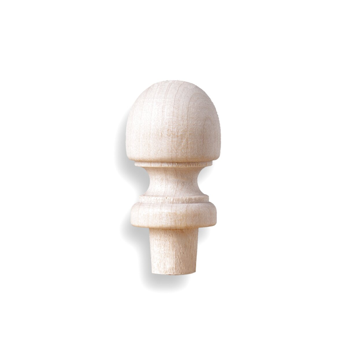 28mm Wooden Mid Oak Colour Finished Bee Hive Style Ball Curtain Pole Finials PK2