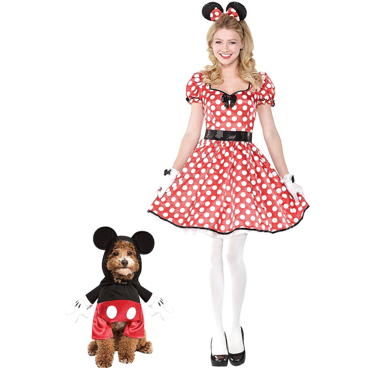 New Men Women Kids Disney Mickey Minnie Mouse Costume Cosplay Plush Warm Gloves