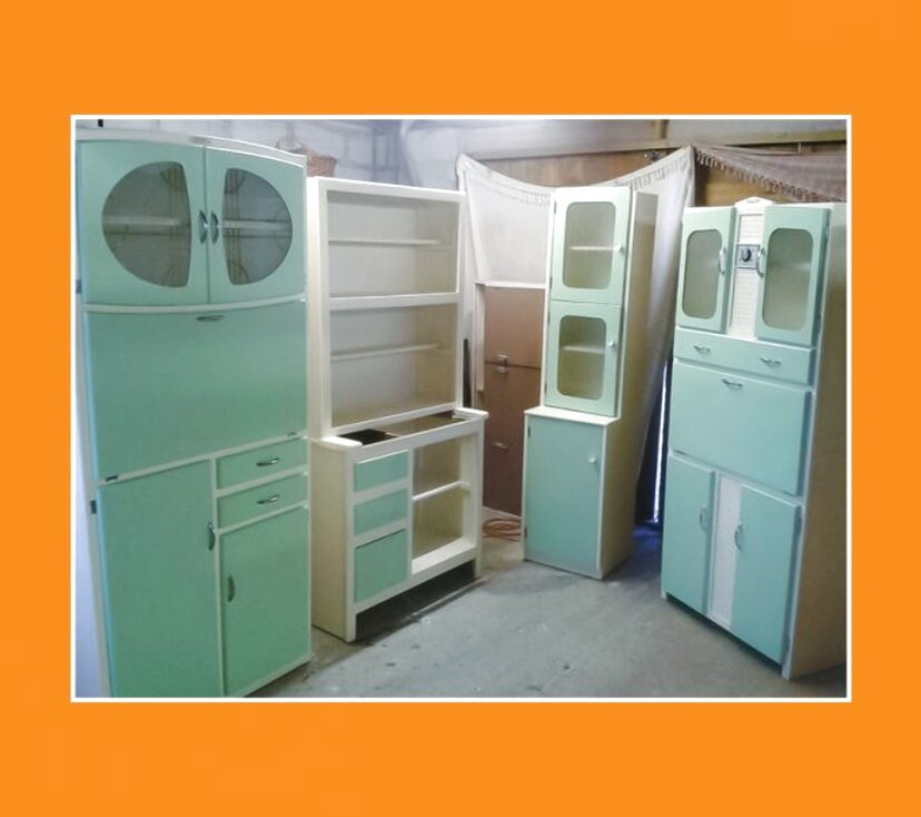 Second Hand Vintage Retro Kitchen Cabinet In Ireland
