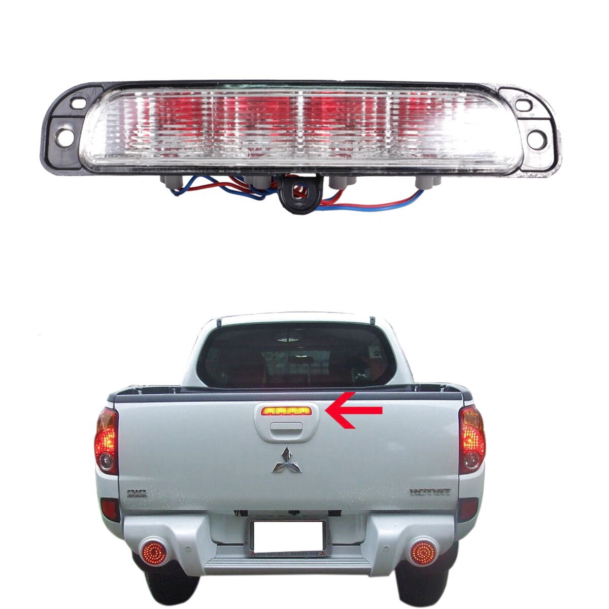 NSR LH REAR LIGHT LAMP WITH LOOM for MITSUBISHI L200 2.5 DID KB4T 2006 ON