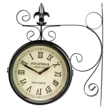 paddington double sided wall clock for sale